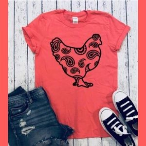 Paisley Chicken Graphic Tee